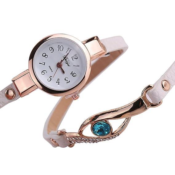 Amazon.com: Ladies Watch Bracelet,Fashion Circle Wrap Around Wristwatch Diamond Student Clock (White): Cell Phones & Accessories