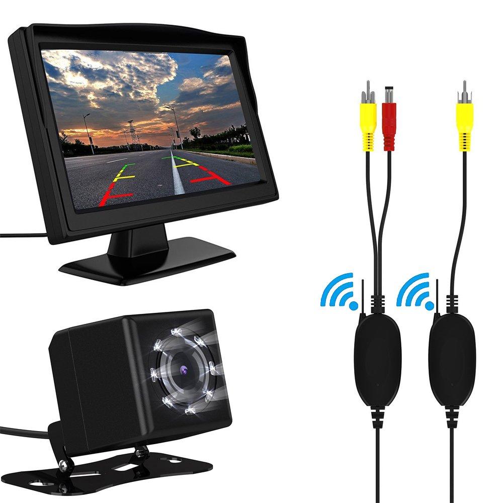 Wireless Backup cámara y Monitor Kit GOGO roadless Inch Kit inalámbrico de