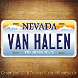 Van Halen Rock Band Nevada Aluminum Vanity License Plate Tag