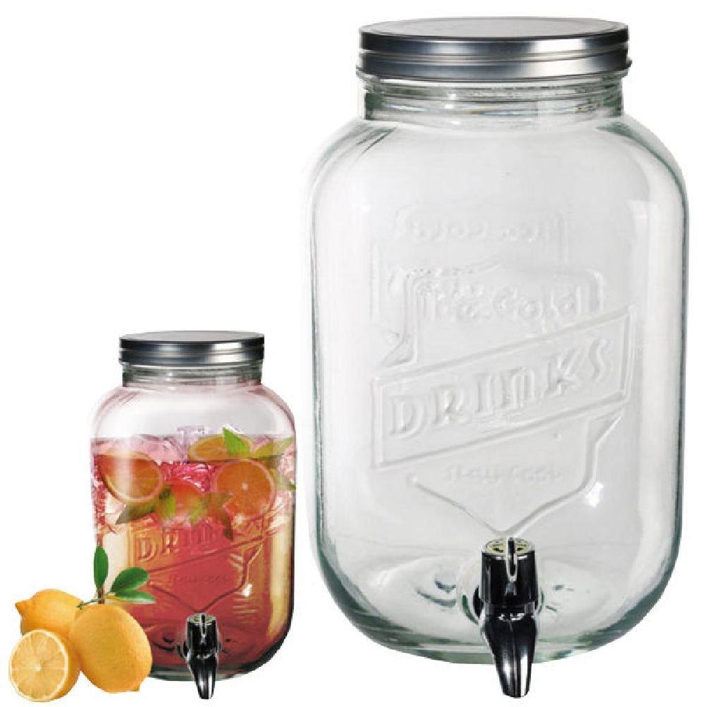 Fun Daisy 3.5L tarro de cristal dispensador de agua con grifo de cóctel de bebida Zumo de perforación Home: Amazon.es: Hogar