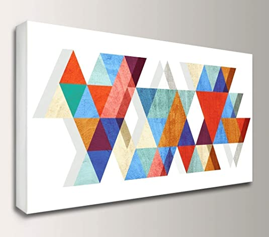 Geometric Mid-Century Canvas Wall Art