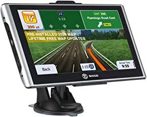 SIXGO GPS Navigation for Car 7 Inch Touch Screen Truck GPS Navigation System with Voice Broadcast and Free Lifetime Map Update (2020 Latest Maps)