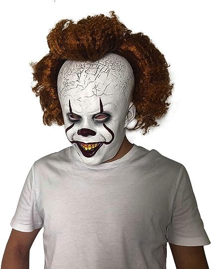 Amazon.com: Yacn Halloween Pennywise It Máscara de disfraz ...