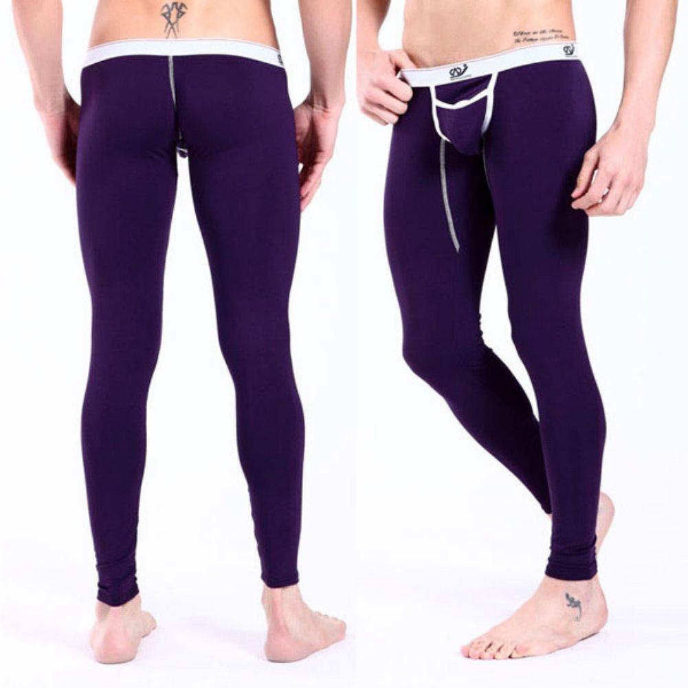 PanDaDa Underwear Men Modal Low Rise Long johns Thermal Pants Underwear Trou...
