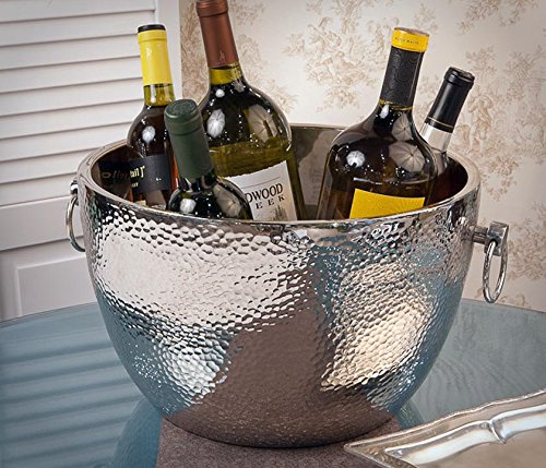 Wine Cooler - ''Knightsbridge'' Hammered Aluminum Wine Cooler