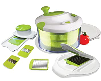 Amazoncom The Sharper Image All In One Salad Spinner With Chop