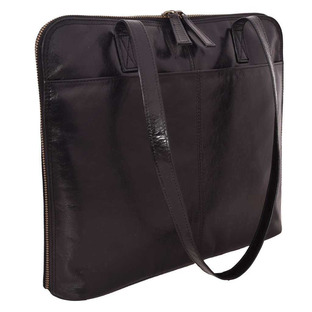 Latico Leathers Isa Shoulder Bag Genuine Authentic Luxury Leather, Designer Made, Business Fashion and Casual Wear, Black by Latico