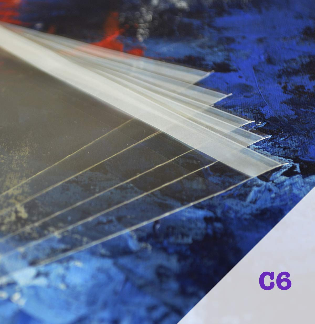 Bolsas de celofán A6 de Acryls, Paquete de 100 Unidades, Transparentes y de Buen Grosor, Ajuste Obras de Arte y Fotos A6, Hace Que tu Trabajo se ...