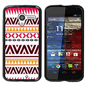 - Hipstr Nebula Aztec Tribal Pattern - - Hard Plastic Protective Aluminum Back Case Skin Cover FOR Motorola Moto X 1ST Gen Queen Pattern