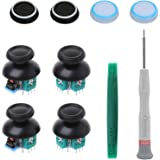 Onyehn 4pcs Analog 3D Joystick Thumbstick Sensor Replacement fit for Sony Playstation 4 PS4 Controllers,with Screwdriver Repa
