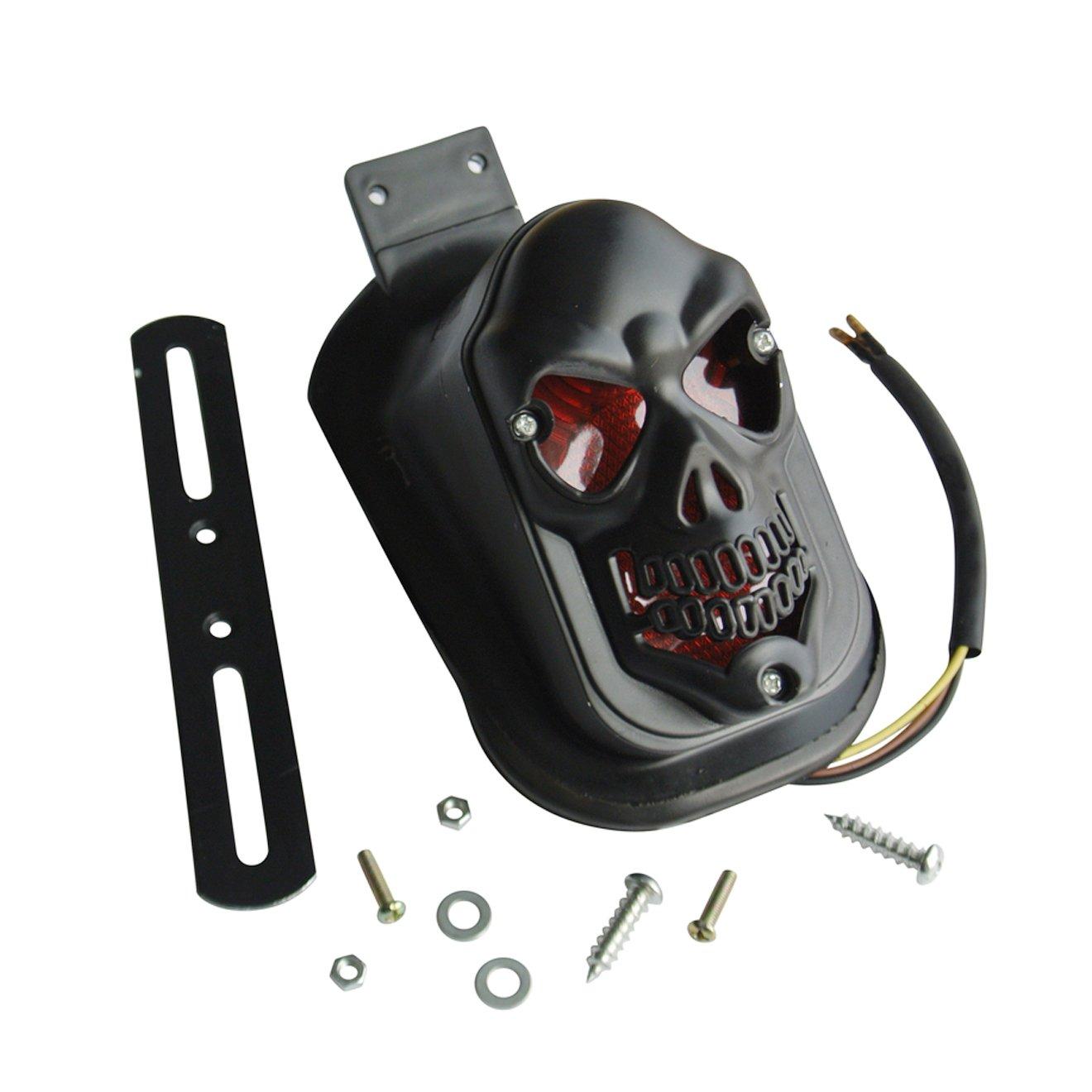 New Black Skull Rear Brake Tail Light For Harley Motorcycle Parts