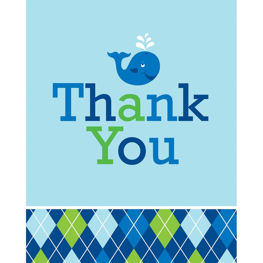 Creative Converting 48-Count Ocean Preppy Boys Thank You Notes with Envelopes