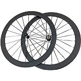 ESTTON - Ruedas de Bicicleta ultraligeras y Mate de 50 mm de Ancho, 23 mm de Ancho, de Fibra de Carbono, para Shimano 9/10/11 velocidades