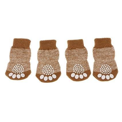 Gazechimp Zapatos de Perro Transpirable Antideslizante Calcetines Accesorios Mascotas Cargadores - M