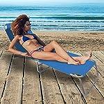 BAKAJI-2-Pezzi-Lettino-Prendisole-Sdraio-Pieghevole-Salvaspazio-Schienale-Reclinabile-Struttura-in-Acciaio-e-Tessuto-Oxford-Imperbeabile-per-Mare-Spiaggia-Piscina-Relax-190-x-58-x-27-cm-Blu