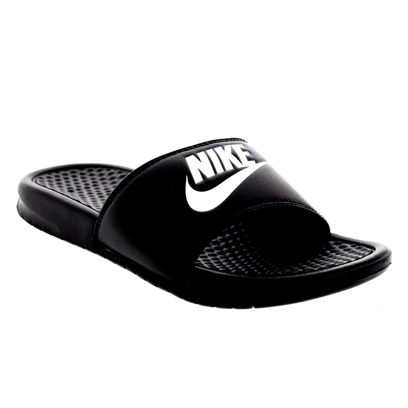 NIKE Mens Benassi JDI Lightweight Slides Beach Holiday Sandals Summer - Black/White - 10