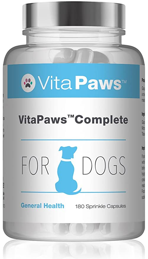 VitaPawsTM Fórmula Completa 180 cápsulas para espolvorear | Apoyo para la salud general de nuestra mascota | Indicado para perros: Amazon.es: Salud y ...