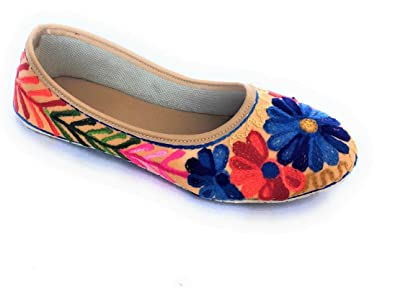 c300beade01 Romya Collection Women   Girls Designer Hand Crafted Floral Pattern Design  Ballerina Casual Shoes  Buy Online at Low Prices in India - Amazon.in