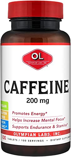 Olympian Labs Caffeine, 200 mg, 100 Tablets
