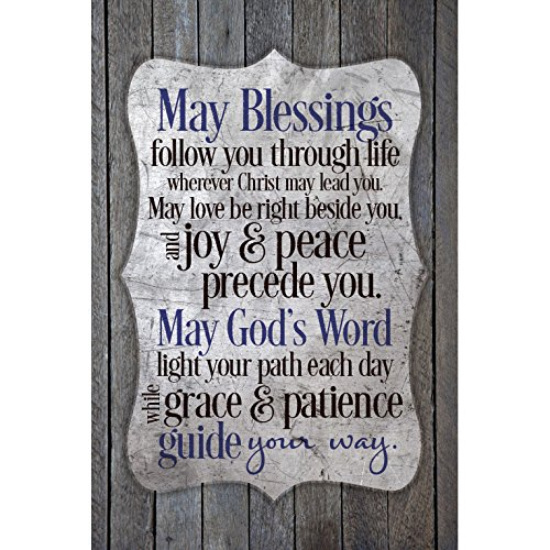 May Blessings Follow You...New Horizons Wood Plaque (New Home Blessing Basket)