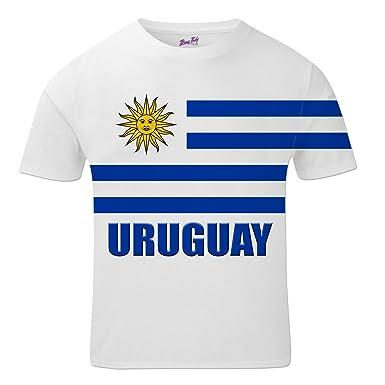 Bang Tidy Clothing Uruguay Football Shirts for Men 2018 Uruguayan Team Flag  T Shirt Fans Gift  Amazon.co.uk  Clothing fbcc42b85