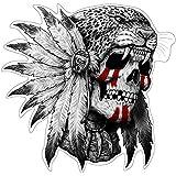 Native Jaguar Skull Aufkleber Sticker Schädel Indianer Totenkopf ca. 10x10 cm