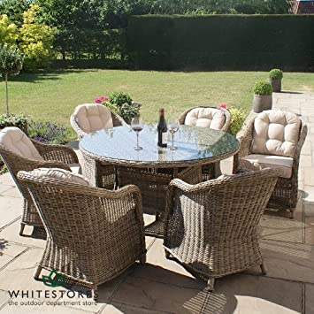 garden furniture 6 seater round