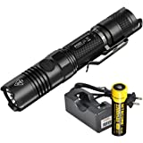Bundle: 3 Items- Nitecore P12GT 1000 Lumens Compact Tactical LED Flashlight, 1 x 18650 Rechargeable Battery, Lumentac Single Channel Charger