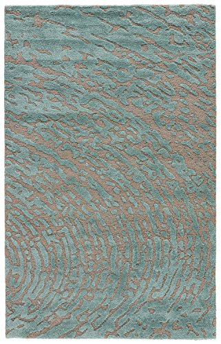 India Silk Rugs - Jaipur Living Daizy Cut & Loop Hand-Tufted Abstract Gray/Silver Area Rug (5' X 8')
