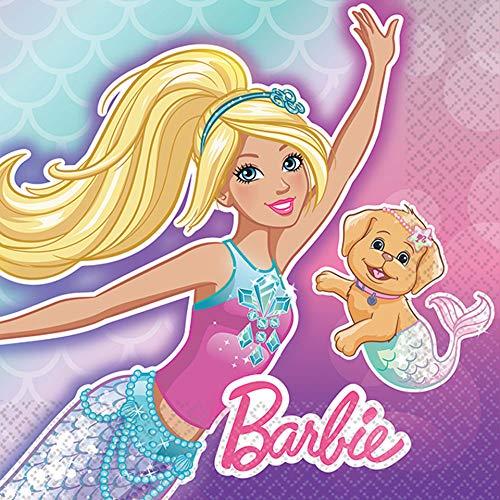 amscan Barbie Mermaid Beverage Napkins]()