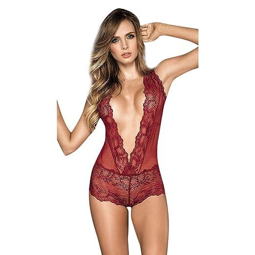 FELZ Moda Mujer Sexy Seductor Atractivo Encaje Perforado Ahueca hacia Fuera Traje de lencería: Amazon.es: Ropa y accesorios