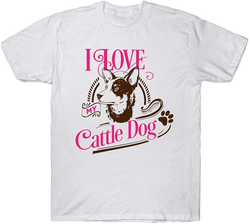 I Love My Cattle Dog T Shirt Black