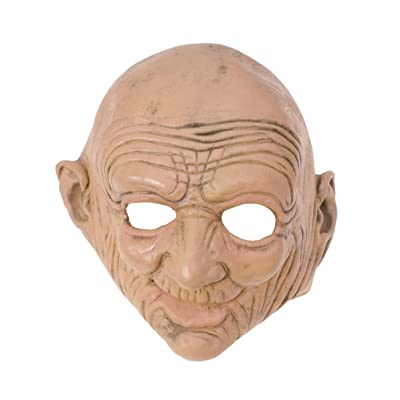 Toyvian Halloween Old Lady Mask Scary Granny Cosplay Latex Mask Costume: Clothing