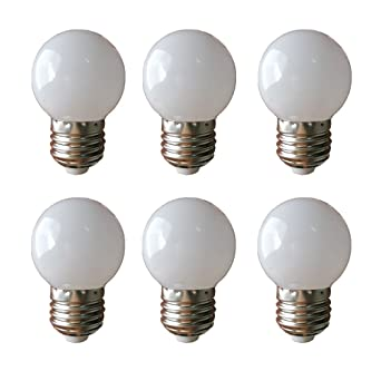 LED G45 1W E27 Blanco cálido 3000K 230V Bombillas decorativas 6 piezas