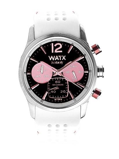 Watx RWA0488 - Reloj para Mujer con Correa de Caucho, Color Negro/Gris