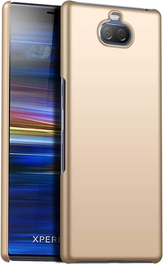 1SourceTek Compatible para Funda Sony Xperia 10 Estuche Protector para Celular Delgado Minimalista Protector Anti-Rasguño de Alta Calidad para Sony Xperia 10 (Oro Liso): Amazon.es: Belleza