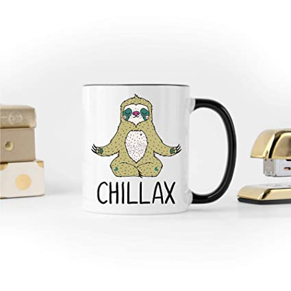 Amazon Sloth Coffee Mug Funny Yoga