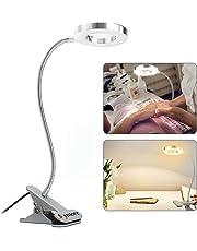 Skymore Lampada Estetista per la Protezione degli Occhi LED USB, Lampada LED USB Portatile, Luce Calda e Clip Portatile e Lampada a Collo di Cigno Flessibile per Trucco Tattoo Tool Tattoo Tattoo