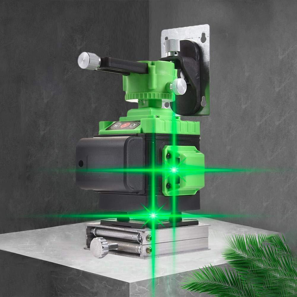 AIMERKUP GodyL/ínea 4D Nivel 16 Instrumento de fijaci/ón de luz Verde de Alta precisi/ón Nivelaci/ón del Nivel del Suelo con Control Remoto Inteligente Impermeable IP54 A Prueba de Polvo justifiable