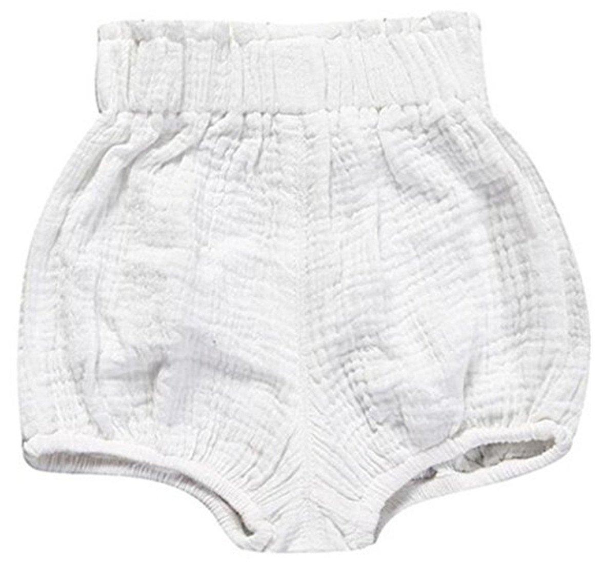 FAIRYRAIN Little Baby Girls Boys Cotton Linen Blend Cute Bloomer Shorts