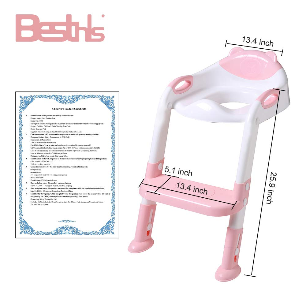Baby Toddler Toilet Training Seat Chair with Soft Anti-Cold Padded ...