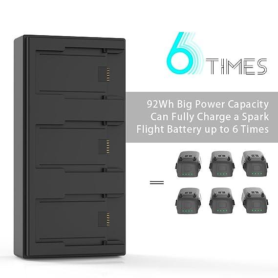 Smatree Estación de Carga de Baterías Múltiple para dji Spark, Carga 3 baterías simultáneamente, Equivalente a 6 dji Spark baterías: Amazon.es: Electrónica