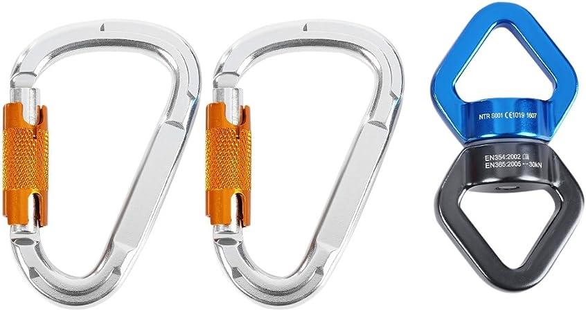 Favsonhome - Conector Giratorio de Cuerda para Escalada en ...