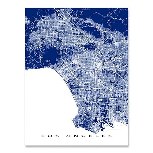 Los Angeles Map Print, California, CA City Art Poster