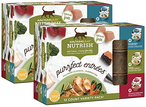 Rachael Ray Nutrish Variety Pack Purrfect Entrees Wet Cat Food, 2.8 Ounce Cubs (24 Count)