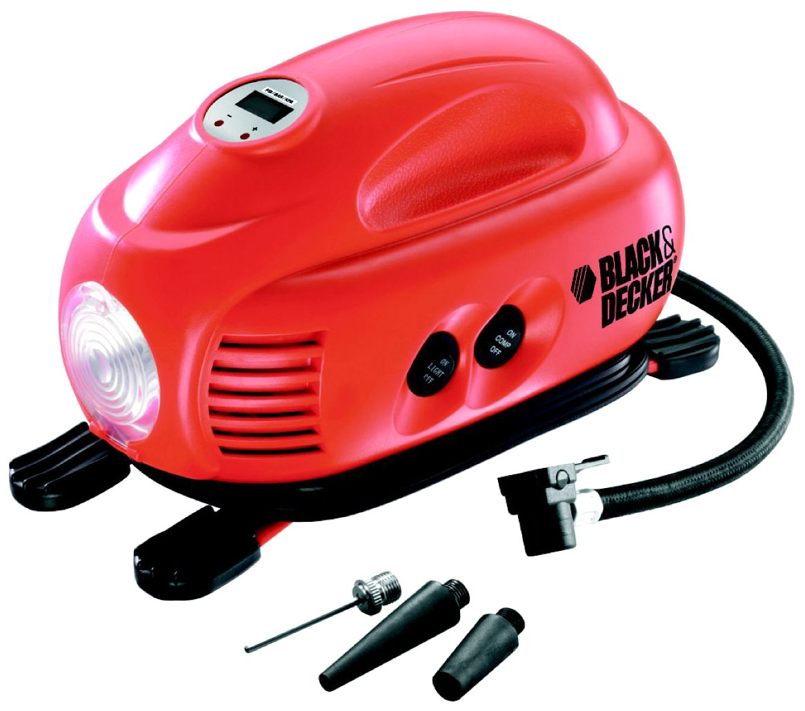 Black+Decker ASI200-XJ Compressore Portatile, 120 Psi, 12 V, DC Black & Decker®