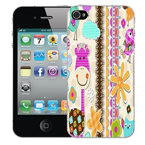 Mobile Case Mate iPhone 5s Silicone Coque couverture case cover Pare-chocs + STYLET - Girrafe pattern (SILICON)