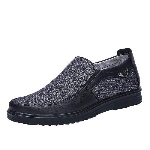 Zapatos Hombre Verano Mocasines Zapatos De Los Hombres Planos Cómodos De La Moda Retra De Otoño Retro Casual Informal: Amazon.es: Zapatos y complementos