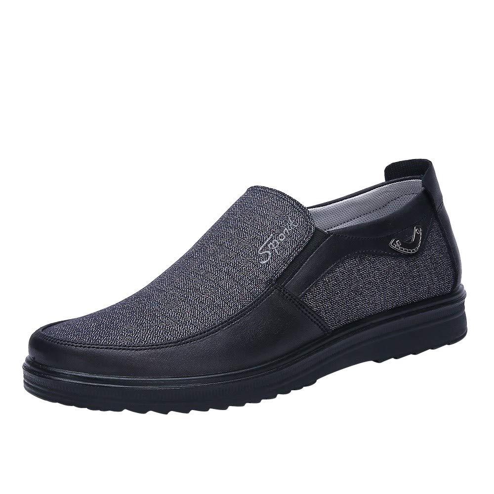 HOSOME Autumn Fashion Retro Business Casual Soft Bottom Comfortable Flat Men's Shoes Men's Business Shoe Gray
