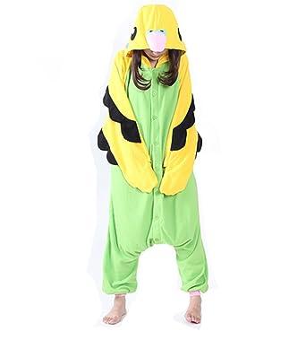 01fcfb049808 Adult Onesies Pajamas Green Parrot Onesie for Women Men Costume Cosplay  Partywear Halloween Large